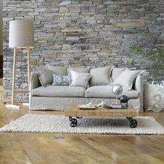 Faux Brick Wallpaper pulls this terrific Rustic look together - www.tonprojet.ca