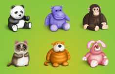 Plush Icons Set by Cuberto-ru.deviantart.com on @deviantART