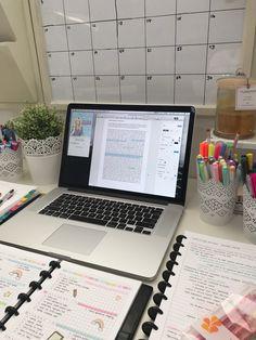 emmastudies desk inspiration pottery barn daily system MacBook Pro