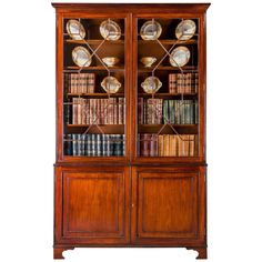 George III Period Mahogany Bookcase | From a unique collection of antique and modern bookcases at https://www.1stdibs.com/furniture/storage-case-pieces/bookcases/