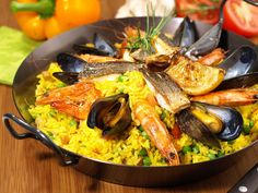 This is a simplified stovetop version of paella that moms can ratatouillefood networkfood network asiaall about foodfood channel ratatouille foodseafood paella recipefood forumfinder Image collections
