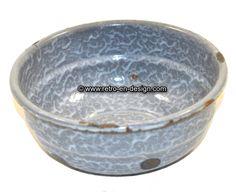 Old antique gray clouds enamel bowl Lovely old gray clouds enamel bowl. Date: 1930 - 1950.  Height:: 6 cm.  Diameter: 15,5 cm.  Gray clouds is typical enamel cooking gear from the Dutch DRU factory, popular in the 1950s.  http://www.mijnwebwinkel.nl/winkel/kenko/en_GB/a-46645326/bric-a-brac/old-antique-gray-clouds-enamel-bowl/