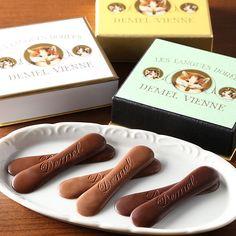 古都ウィーンの洋菓子舗が誇る華麗にして上品な味。【ソリッドチョコ猫ラベル(3箱セット)】
