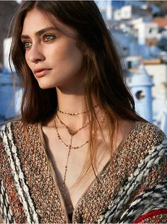 Free People Paint The Sky Rosary Necklace, $38.00