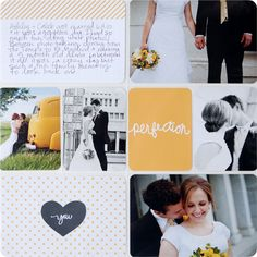 Wedding pages using #projectlife #midnightedition.