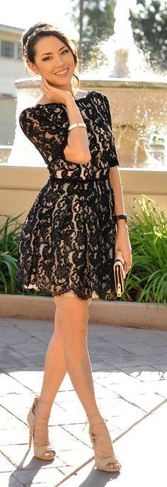 Black Lace Inspiration Dress by Hapa Time