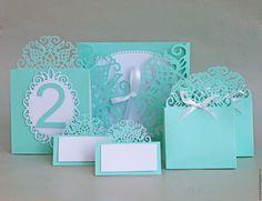 """Купить """"Элегия"""" номероки на стол - комбинированный, номера столов, номерки для стола, свадебные аксессуары, свадьба"""