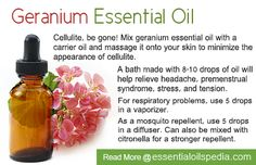 geranium essential oil (uplifting and the flower is the symbol of friendship)