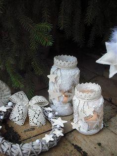 caren / ...Vianoce v bielom- svietnik väčší.