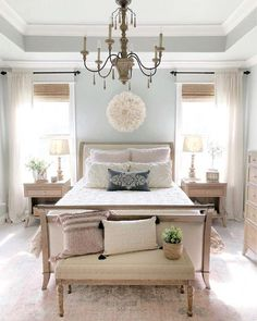 Who wouldn't want to wake up framed in sunlight? Handcrafted by Indonesian artisans, the Pearson Collection enhances décor with classic design that easily transitions from traditional to modern styles. 📷: Source by arhaus Home Decor Master Bedroom Layout, Farmhouse Master Bedroom, Home Bedroom, Bedroom Furniture, Master Suite, Bedroom Black, Ikea Bedroom, Bedroom Plants, Bedroom Yellow