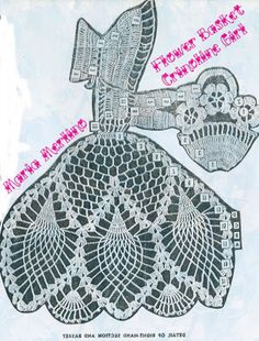 Crinoline Lady with Basket of Posies! Free pattern.  Maybe I can convince Mum to use the pattern and make me some?
