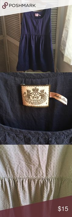 Juicy Couture navy blue dress Side zipper. Darted at chest. Cute detailing at waistline and bottom of hem. Juicy Couture Dresses