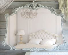 Antique 1880's Shabby Chic Mirror, Cottage Chic, French Country.  Etsy.