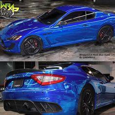 Blue Chrome Maserati GranTurismo Done by