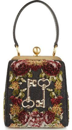 Dolce & Gabbana Agata Ayers-Trimmed Clutch