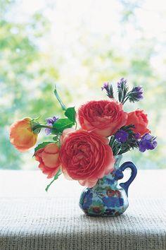 Roses in Arrangement - by David Austin