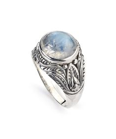 Another great find on #zulily! Rainbow Moonstone & Sterling Silver Leaf Ring by Samuel B. #zulilyfinds