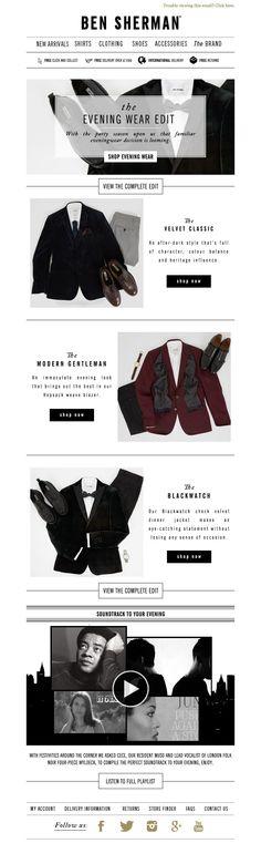 #newsletter Ben Sherman 11.2014 The Evening Wear Edit
