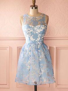 Beautiful Fashion Homecoming Dress Scoop Lace Short Prom Dress Party Dress JK438
