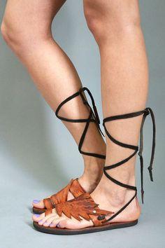 Leather Tooled Boho Winged Espadrilles