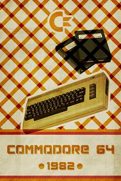 My dad totally had one of these:) Commodore 64 - Retro Poster by Vespertin, via Flickr