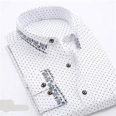 2018 Retro Floral Printed Men Casual Shirts Classic Men Dress Shirt Men's Long Sleeve Brand New Fashion Spring Shirts Slim Fit Casual Shirts, Men Casual, Long Sleeve Shirt Dress, Long Sleeve Shirts, Dress Shirts, Mens Shirts Brands, Men Shirts, Spring Shirts, Shirt Style