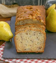 Sour Cream Pear Bread | A delectable autumn loaf