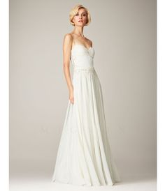 Mignon Spring 2014 Dresses - White Beaded Chiffon Low Back Prom Dress (38804-VM943) van Mignon - Please allow a 4 day ha...Price - $558.00-gFKvIdpV