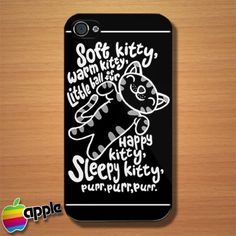 The Big Bang Theory Soft Kitty Warm Kitty iPhone 4 or 4S Case,cool iphone cases ,best iphone cases,girly iphone cases,iphone 4,case,cool phone cases,best iphone 4 case