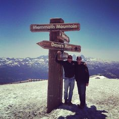 On top of Mammoth Mountain with Luca