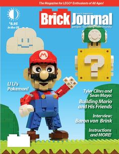 The video game issue, with models from Mario and other games featured! Video Game Console, Mario, Pokemon, Magazine, Models, Games, Fictional Characters, Templates, Magazines