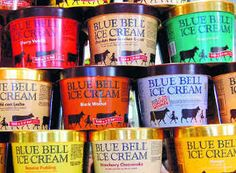Blue Bell Ice Cream from Brenham, Texas