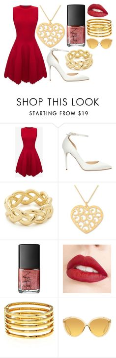 """""""Snow White 2"""" by hannah-graves ❤ liked on Polyvore featuring Alexander McQueen, Jimmy Choo, Soave Oro, NOVICA, NARS Cosmetics, Jouer, Kenneth Jay Lane and Linda Farrow"""