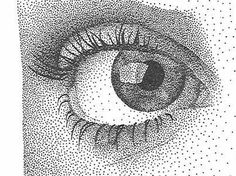 This is called Pointillism or Stippling Kunst Inspo, Art Inspo, Art Sketches, Art Drawings, Stippling Drawing, Dotted Drawings, Dot Art Painting, Illustration, Art Graphique