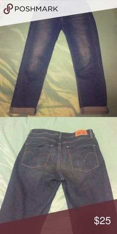 Size 28 Levi boyfriend cut jeans! Great condition, no fading, wear and tear, or stains! Levi's Jeans Boyfriend