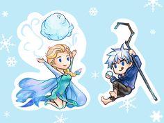 Rise of the Guardians' Jack Frost and Frozen's Elsa / 「JELSA」/「Pusha」の漫画 [pixiv] [01]