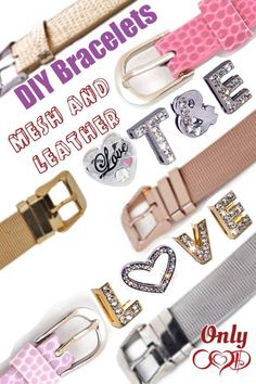 Mesh & leather slide bracelets by Our Hearts Desire http://ourheartsdesire.com/diana