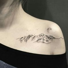 #tatouage #femme #épaule #montagne #nature