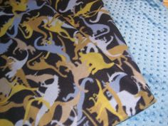 Soft and Comfy Fleece Dinosaur Blanket by TheCraftyGains on Etsy