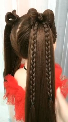 Lil Girl Hairstyles, Easy Hairstyles For Long Hair, Braided Hairstyles, Best Hairstyle For Girl, Cute Quick Hairstyles, Childrens Hairstyles, Toddler Hairstyles, Front Hair Styles, Hair Videos