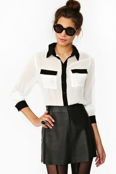 Tux Pocket Blouse
