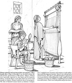 Welcome to Dover Publications Life in Ancient Greece Coloring Book Abc Coloring Pages, Adult Coloring, Coloring Books, Colouring Sheets, Yarn Crafts For Kids, Classical Period, Greek History, History For Kids, Dover Publications