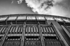 Exterior detail of the Darrell K Royal—Texas Memorial Stadium at the University of Texas at Austin. #ut #blackandwhite #stadiums #football #austin #photography See more photos at 75Central.Com
