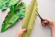 Estas hojas DIY te pueden servir para decorar ambientes temáticos #dinosaurios #fiesta #decoracioninfantil