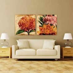 Vibrant Floral II ~ Tempered Art Glass Dimensions:40 in. X 40 in. X 0.3 in. Frameless Free Floating Tempered Art Glass by EAD Art Co-op