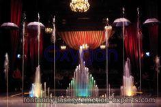 fontanny wodne, pokazy laserowe