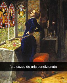 Aggiungimi su Snapchat nuove storie ogni giorno: stefanoguerrera   Mariana - Sir John Everett Millais (1851)  #seiquadripotesseroparlare