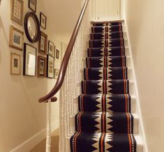 SOPHIE COONEY Stair Rug Runner, Stair Runners, Stair Rugs, Cozy Cottage, Small Office, Basement Remodeling, Stairways, Contemporary, Post Office