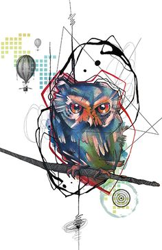 Fine art print of Owl from my new line called RemixIT Design....a collaboration of my tattoo work remixed with digital illustrations from my partner-in-art, T.A.D.pole. It can be purchased at my website at:   http://www.ivanatattooart.com/print-store.html  or use this link for the open stock pieces:  http://www.ivanatattooart.com/Open-Stock-Shopping-Cart.html