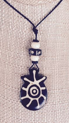 Tribal necklace pendant necklace tribal by NaturallyPeaceful